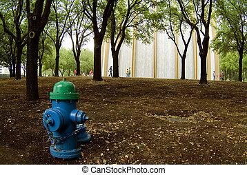 Waterfall & Fire Hydrant