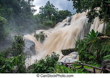 waterfall from natural park in north of thailand