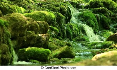 Waterfall, Grand Canyon of Crimea, Crimea, Russia. Full HD