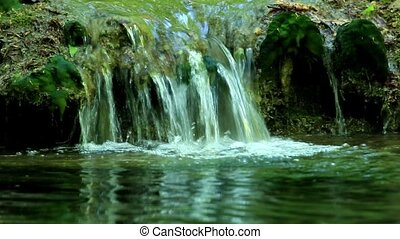 Waterfall, Grand Canyon of Crimea, Crimea, Ukraine