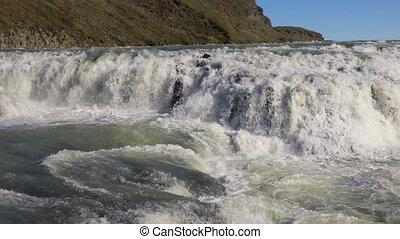 Waterfall Gullfoss in Iceland - Gullfoss waterfall is one of...