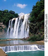 Waterfall - Huang Guo Shu waterfall in Gui Zhou, China