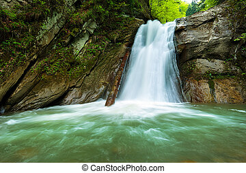 Waterfall in a canyon