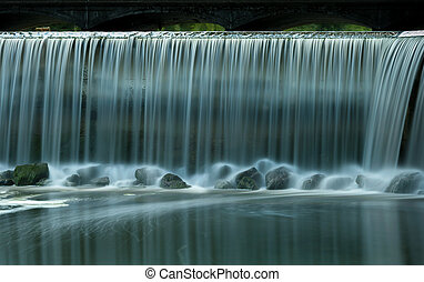 Waterfall in a park