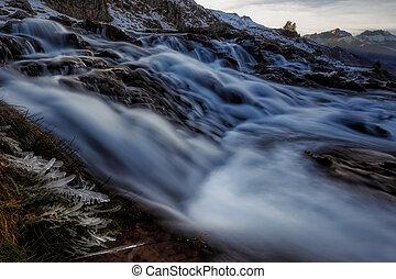 Waterfall in Aguas Tuertas valley