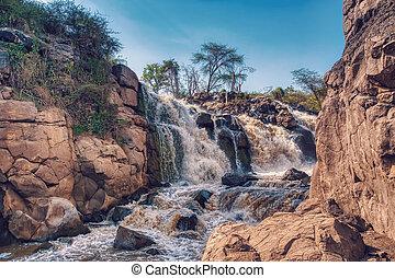 waterfall in Awash National Park, Ethiopia