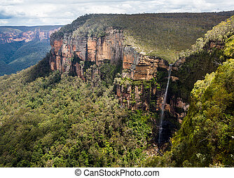 Waterfall in Blue Mountains Australia