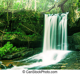 Waterfall in Cambodia - waterfall Kbal Spean