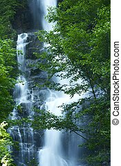 Waterfall in Cascades Mountains - North Cascades National ...