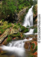 Waterfall in Czech Republic