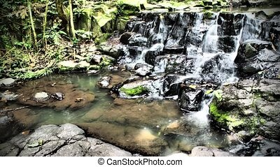 waterfall in dramatic color tone
