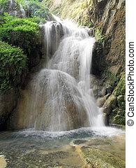 Waterfall in Erawan national park, Kanchanaburi ,Thailand