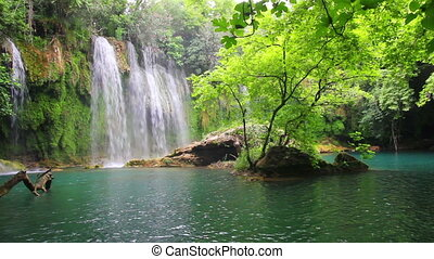 waterfall in forest - Kurshunlu Turkey