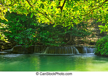 Waterfall in frame