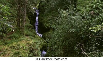 Waterfall in Glendalough - Waterfall in the Wicklow...