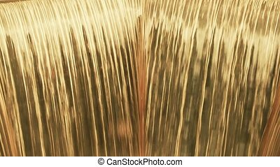 Waterfall in gold color