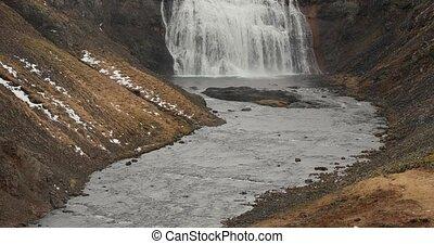 Thorufoss waterfall in Iceland, wild landscape