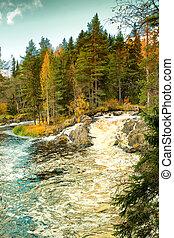 Waterfall in Karelia, Russia