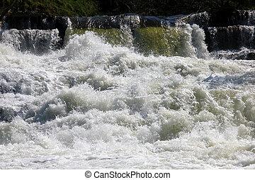 Waterfall in macro - Waterfall in Geiranger, Norway in macro