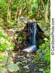 Waterfall in Maruyama Park - Kyoto - Waterfall in Maruyama...