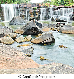 Waterfall in National park ,Chaiyaphum Province in Northeast...