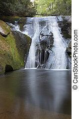 Waterfall in North Carolina - Widow Falls before sunrise at ...