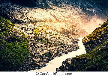 Waterfall in Norway, Scandinavia