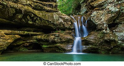 Waterfall In Paradise Background