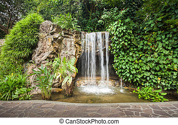 Waterfall in park