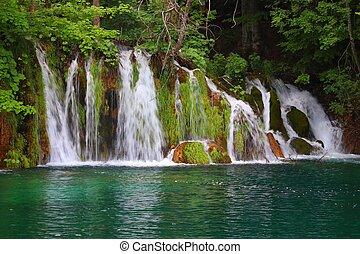 Waterfall in Plitvice, Croatia