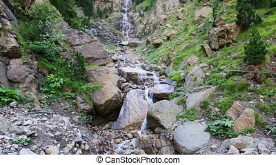 waterfall in Pyrenees mountains. Catalonia