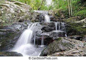 Waterfall in rain forest ,Thailand