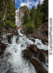 waterfall in Raineer National Park, USA