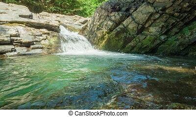 Waterfall In Rocks