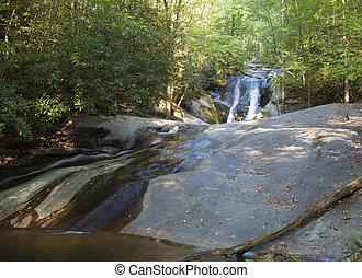 Waterfall in Stone Mountain State Park - Widow Falls in ...