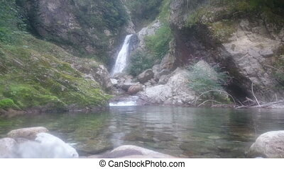 waterfall in the alps, Anzasca Valley, Italy