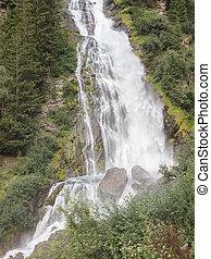 Waterfall in the Austrian Alps
