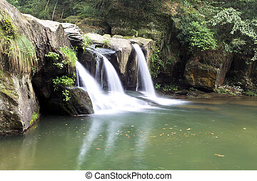 waterfall in the black dragon pool in lushan