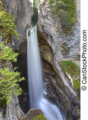 Waterfall in the Canadian Rocky Mountains