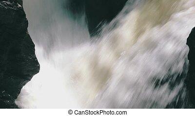 Waterfall in the Lava Fields, closeup