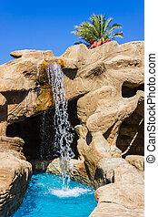 Waterfall in the pool
