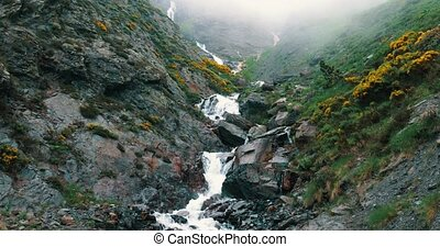 Waterfall In The Pyrenees Highlands, Spain - graded Version...