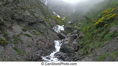 Waterfall In The Pyrenees Highlands, Spain - native Version...