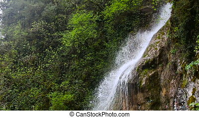 Waterfall in the Republic of Abkhazia North Caucasus