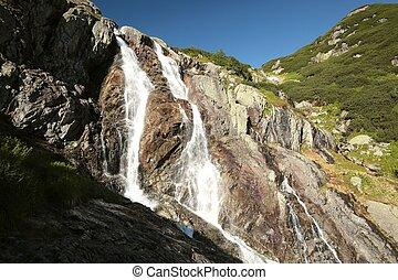 Waterfall in the Tatra Mountains