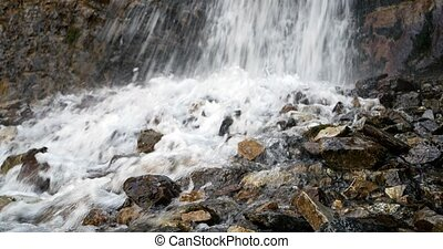 Waterfall in the valley of the Issyk-Ata. Recorded at slow...