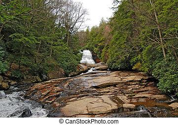 Waterfall in the Wilderness Landscape