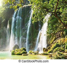 Waterfall in Vietnam - Ban Gioc - Detian waterfall in ...