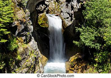 Waterfall in Washington State - Waterfall in long time ...