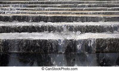 waterfall in water pool